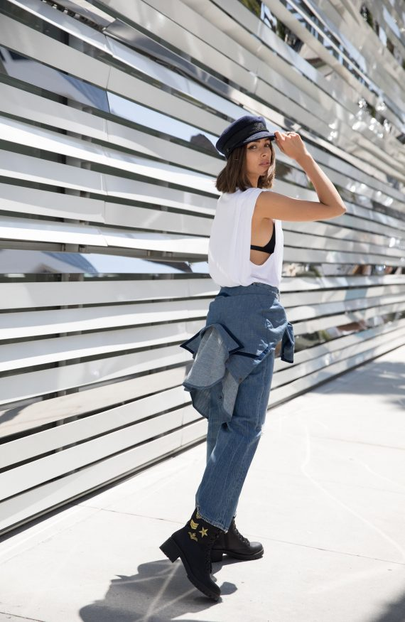 Olivia Culpo Menswear Inspired Street Style Outfit