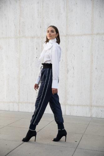 Olivia Culpo statement blouse