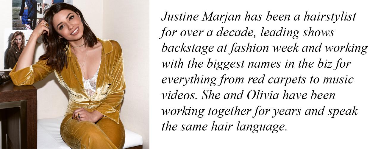 Justine Marjan hairstylist