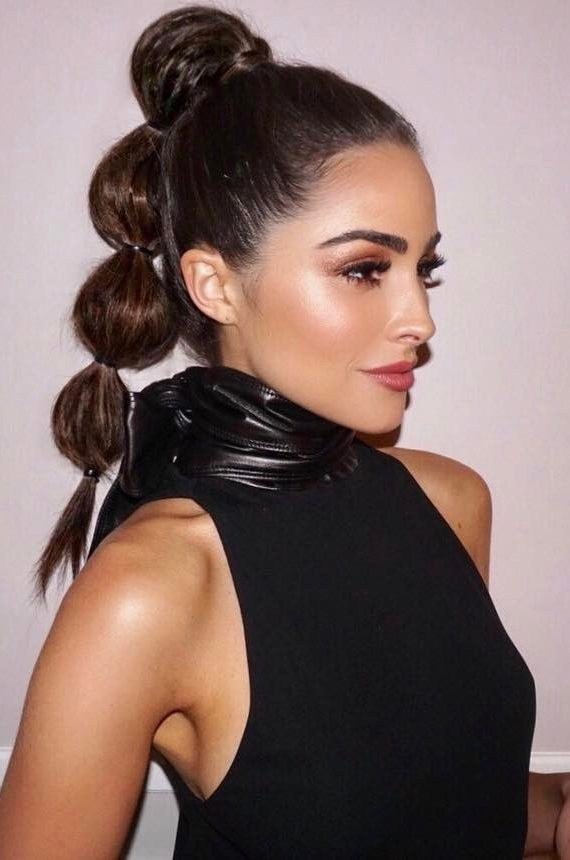 Olivia Culpo Bubble Ponytail hairstyle justine marjan