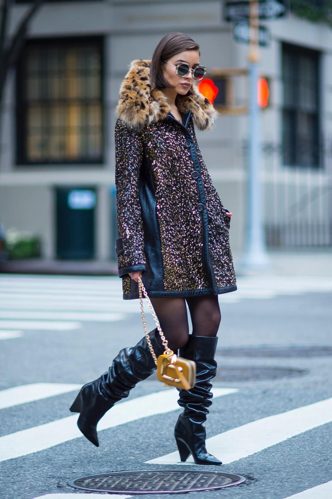 Olivia Culpo cheetah print cape