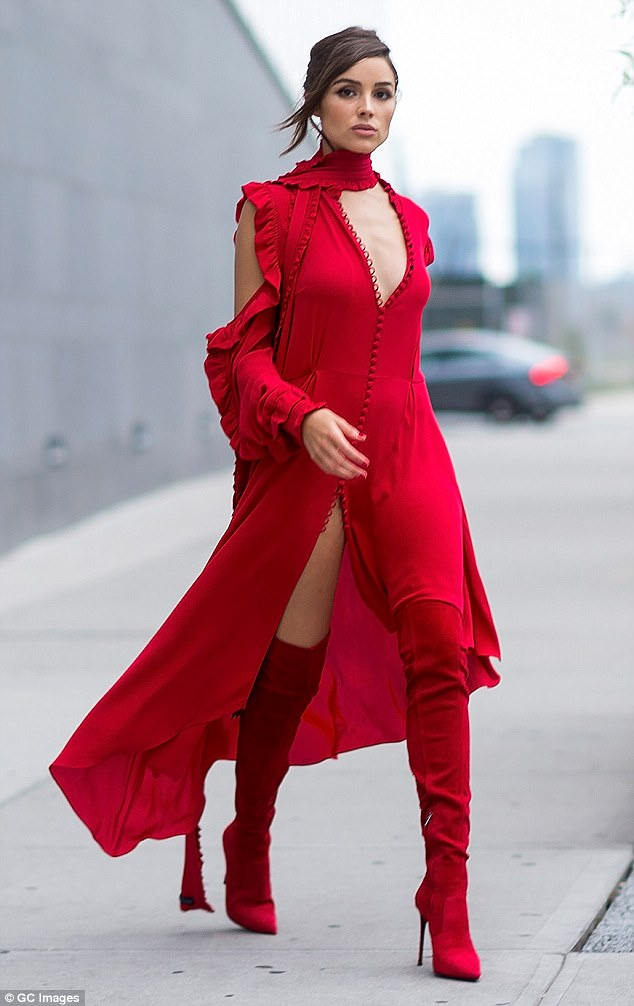 Olivia Culpo Red Dress