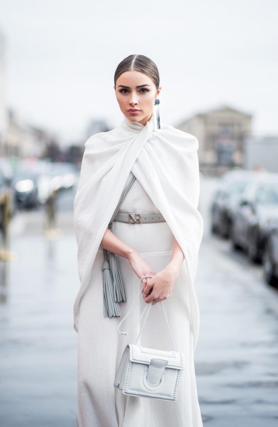 Olivia Culpo Fashion Week Trends Asymmetric Earrings