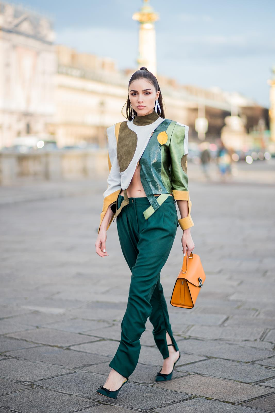 Olivia Culpo Paris Fashion Week Ronald Van Der Kemp