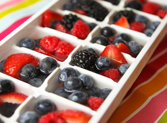 4th Of July Recipes Red White and Blue Ice Cubes