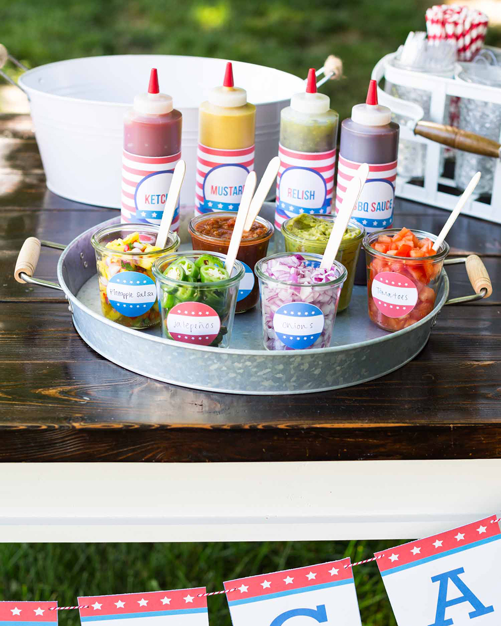 4th of July DIY Hotdog Bar